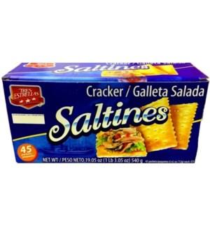 TRES ESTRELLAS #00263 SALTINES CRACKER GALLETA