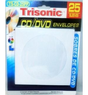 DVD ENVELOPES #TS-CD-25PP PAPER SLEEVES
