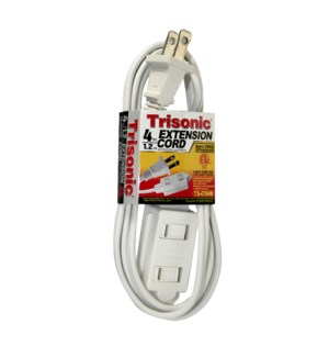 EXTENSION CORD #TS-4704W WHITE