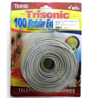 TS-8100--100FT PHONE EXTENTION CORD