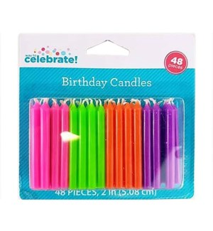 BIRTHDAY CANDLES #128304 NEON SOLID COLOR