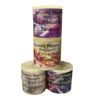 PILLAR CANDLE #4104 WHITE