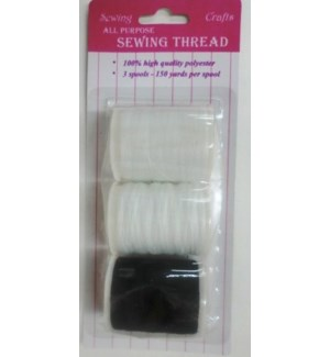 SEWING THREAD #A12271 BLK/WHT