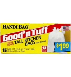 GOOD'N TUFF #12LK15B- 13GAL TALL TRASH B