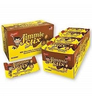 BOYER #25451 JIMMIE STIX MILK CHOCOLATE W/PEANUT