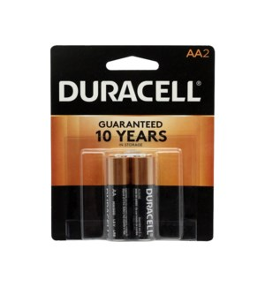 DURACELL BATTERIES AA-2 COPPER TOP