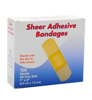 BANDAGES #99992 SHEER ADHESIVE