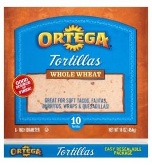 ORTEGA #00922 WHOLE WHEAT TORTILLAS