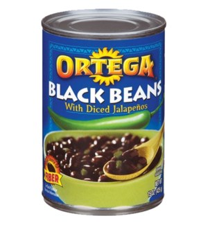 ORTEGA #1701 BLACK BEANS W. JALAPENOS