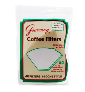 CONE-STYLE COFFEE FILTER #4004(GOURMAY)