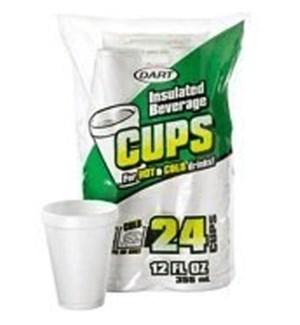 DART #12JP24 12OZ FOAM CUPS