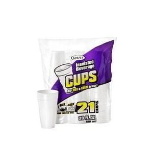 DART #20JP21 20OZ FOAM CUPS