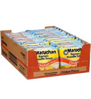 MARUCHAN #00412 CHICKEN LESS SODIUM RAMEN NOODLE