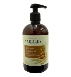 YARDLEY HAND SOAP #83183 OATMEAL & ALMOND