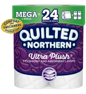 QUILTED BATH TISSUE #87346 ULTRA PLUSH