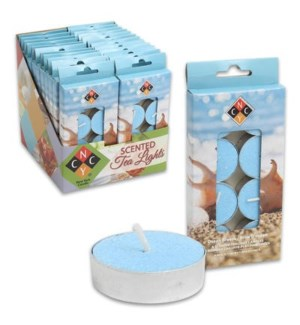 TEALIGHT CANDLES-OCEAN BREEZE