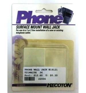 PHONE WALL JACK #19121