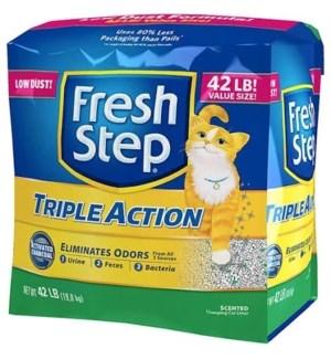 FRESH STEP 42LB TRIPLE ACTION CAT LITTER