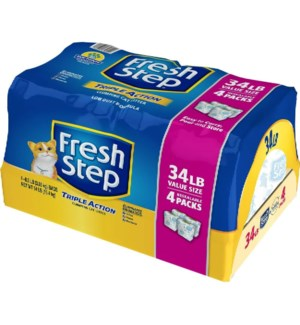 FRESH STEP #31600 (4/8.50LB=34LB)CAT LITTER