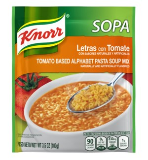 KNORR MEX #1618 PASTA SOUP W. LETTERS