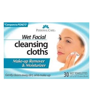 PC #92234 WET FACIAL CLEANSING TISS
