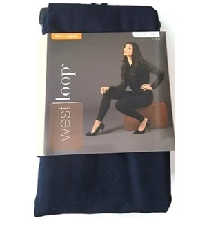 LEGGINGS, NAVY BLUE M/L
