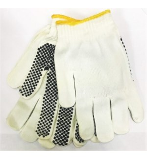 WORKING GLOVES #KNNYPM STRETCH NYLON BLK DOTS