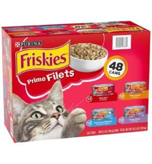 FRISKIES #57676 PRIME FILETS CAT FOOD,ASST