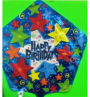 BALLOON #814465-2 BIRTHDAY, STARS