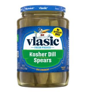 VLASIC KOSHER DILL SPEARS PICKLES
