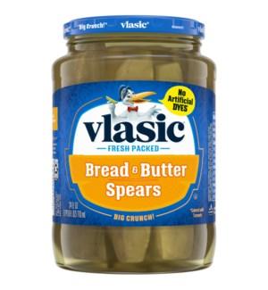 VLASIC BREAD&BUTTER SPEARS PICKLES