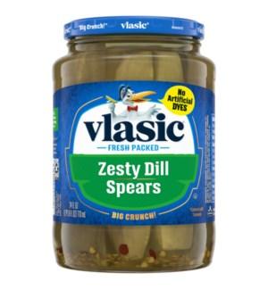 VLASIC ZESTY DILL SPEARS PICKLES