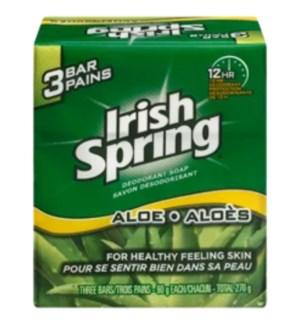 IRISH SPRING BAR SOAP #00286 ALOE