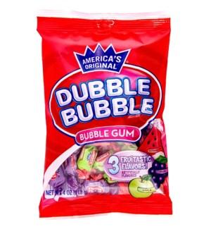 DUBBLE BUBBLE #14402 BUBBLE GUM 3 FLAVOR