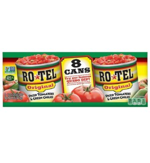 ROTEL #28281 DICED TOMATOES & GREEN CHILIES ORIGI