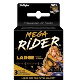MEGA RIDER #04705 EXTRA COMFORT EXTRA CONDOM