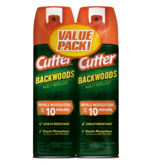 CUTTER #96282 2PK INSECT REPELLENT/BACKWOODS