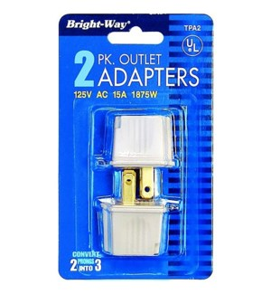 2PK OUTLET ADAPTERS #103405