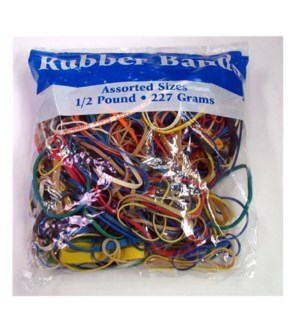 BAZIC #465 RUBBER BANDS, ASST