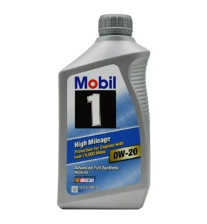 MOBIL ONE MOTOR OIL-0W20 HIGH MILEAGE