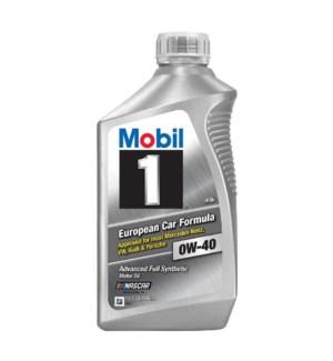 MOBIL ONE MOTOR OIL-0W40 EUROPEAN CAR FORMULA