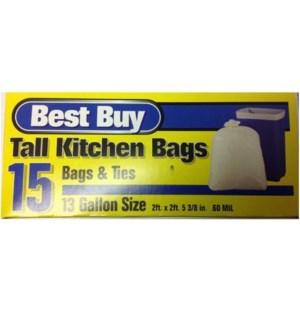 BEST BUY #12215 13GL TALL KITCHEN/D.BLUE