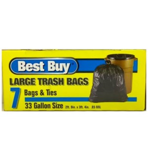 BEST BUY #13007 33GL TRASH BAGS/BLUE