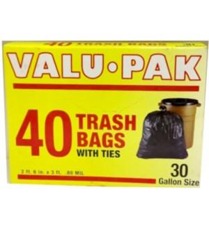 VALUE PACK - 30GL TRASH BAGS