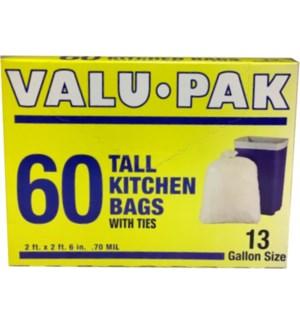 VALUE PACK - 13GL TALL KITCHEN TRASH BAG