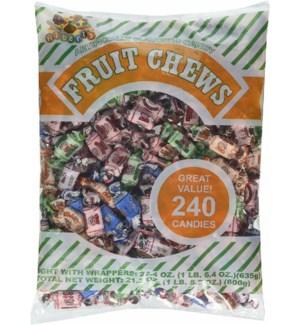 ALBERTS #1819 ASST FRUIT CHEWS BAGS