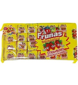 FRUNAS #05620 STRAWBERRY FRUIT CHEWS
