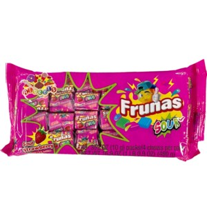 FRUNAS #05627 SOUR STRAWBERRY CHEWS