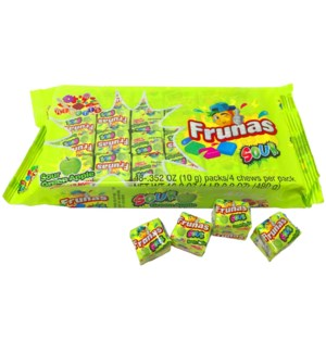FRUNAS #05628 SOUR GREEN APPLE CHEWS