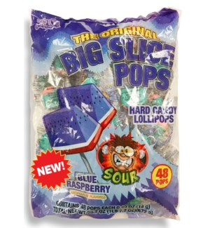 BIG SLICE POPS #07865 SOUR BLUE RASPBERRY